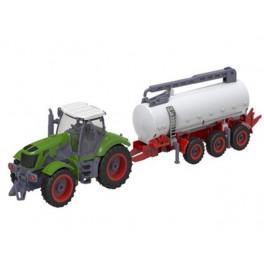 RC traktor s přívěsem na dálkové ovládání