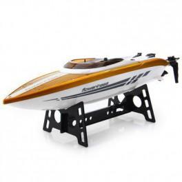 RC Závodní člun 38cm Baywatch 20+ km/h s vodou chlazeným motorem zlato žlutá